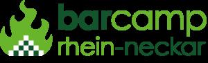 Schriftzug Barcamp Rhein-Neckar mit Logo