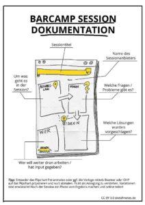 Vorlage eines Flipcharts für die Sessiondoku