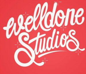 "geschwungener Schriftzug ""Welldone Studios"""