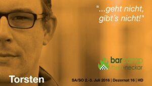 """Portrait von Torsten mit eigenem Zitat: """"...geht nicht, gibt's nicht!"""""""